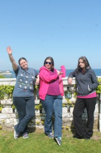 These were the grounds. And see? Hannah and I are pointing to where we want to live! :-)