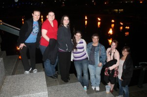 The group at Waterfire. It was very cool and pretty!
